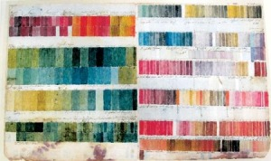 Ferdinand Bauer's original colour chart purchased and finished by Thaddäus Haenke, held by Real Jardin Botánico de Madrid